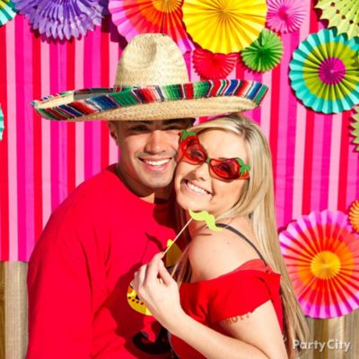 Mexican Party Photo Booth Idea