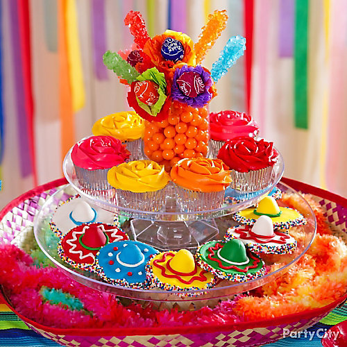 Mexican Party Dessert Sombrero Display Idea