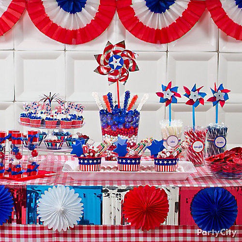 4th of july treats display idea patriotic sweets and for Fourth of july party dessert ideas