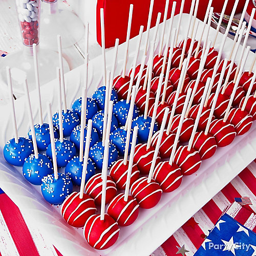 American flag cake pops idea party city for American flag decoration ideas