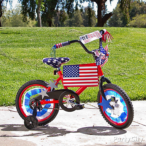 4th of July Bike Decorating Ideas - Patriotic Party Ideas