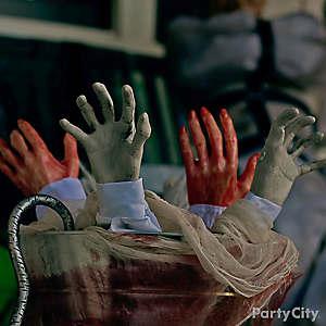 Halloween Asylum Hand Bucket Idea