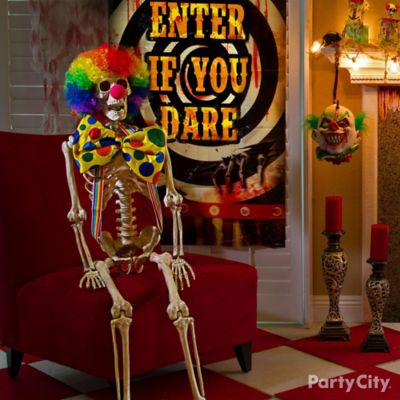 Halloween Rainbow Clown Skeleton Idea