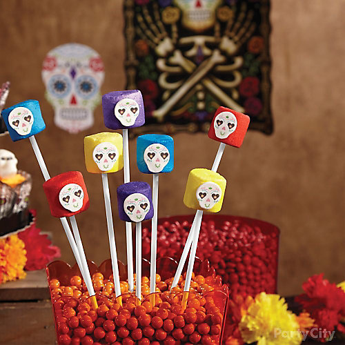 Day of the Dead Marshmallow Pops How To