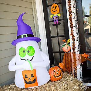 Kid-Friendly Halloween Inflatable Ghost Idea