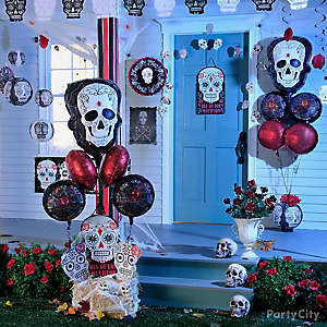 Sugar Skull Balloon Porch Idea