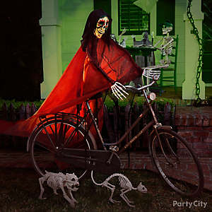 Halloween Skeleton and Bike Idea