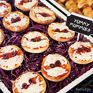 Kid-Friendly English Muffin Pizza Mummies Idea
