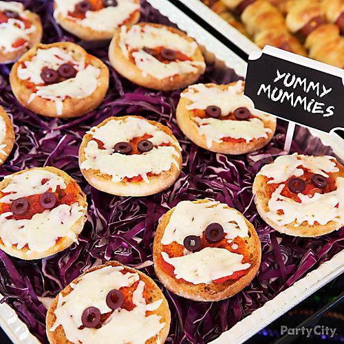 Kid-Friendly English Muffin Pizza Mummies Idea