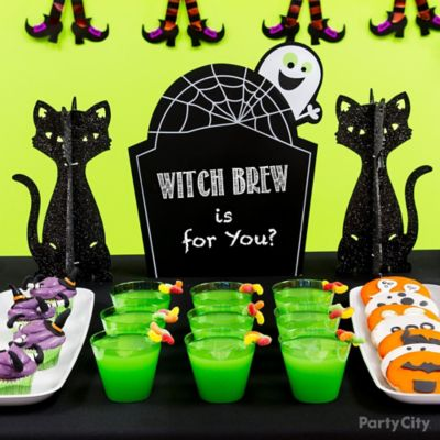 Kid-Friendly Ghost Chalkboard Drink Sign Idea