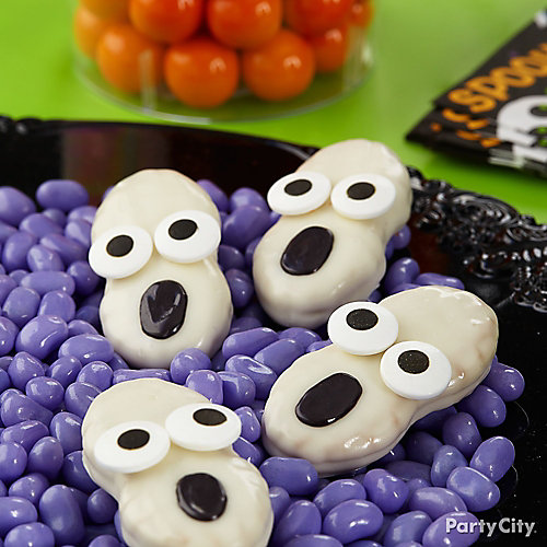 Friendly Candy Dipped Ghost Cookies How To