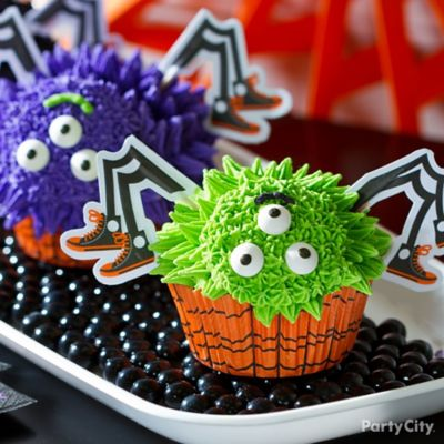 Friendly Spider-Monster Cupcake How To