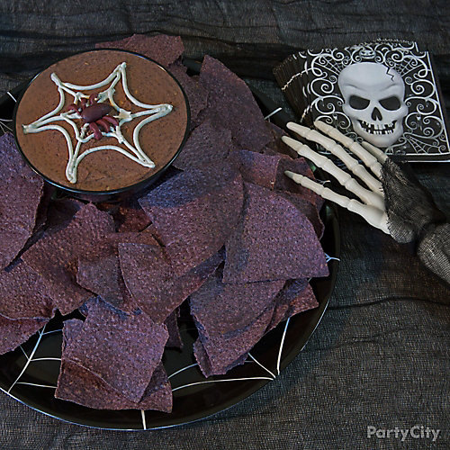 Halloween Spider Web Hummus Recipe