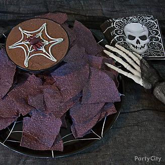 Savory Halloween Spiderweb Hummus Recipe