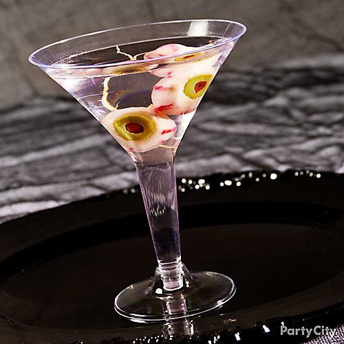 Halloween Classic Eyeball Martini Cocktail Recipe