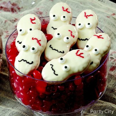 Scary Candy Dipped Skull Cookies How To