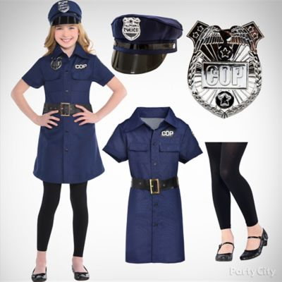 Girls' Police Officer Costume Idea