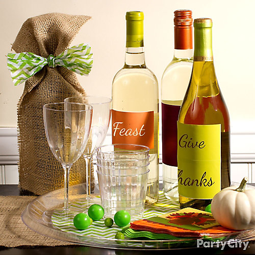 Thanksgiving Personalized Wine Labels Idea