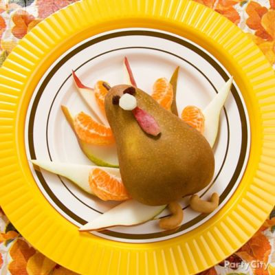 Thanksgiving Pear Turkey Idea