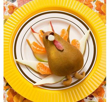 Thanksgiving Pear Turkey Idea