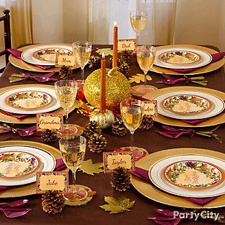 Gilded Thanksgiving Tablescape Idea