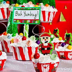 Santa Mini Cupcake Idea