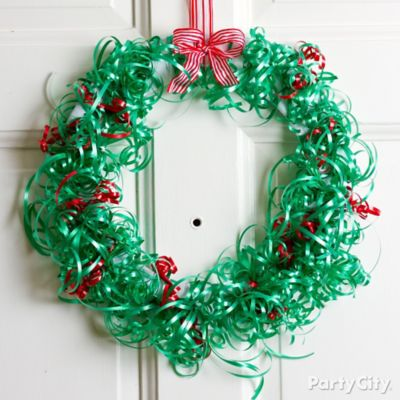 Christmas Ribbon Wreath DIY