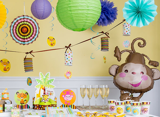 jungle animals baby shower ideas party city