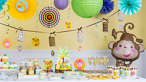 Jungle baby shower window idea jungle animals baby for Animal room decoration games