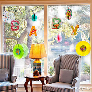 Jungle Baby Shower Window Idea
