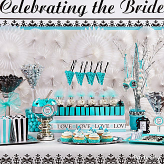 Robin's Egg Blue Candy Buffet Display Idea