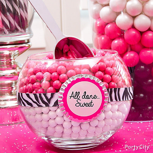 Pink & White Candy Bowl Baking Cup DIY