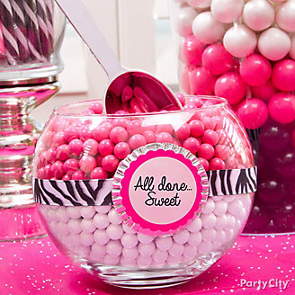 Pink and White Candy Bowl Baking Cup DIY