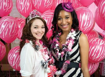 Pink & Zebra Grad Party Ideas