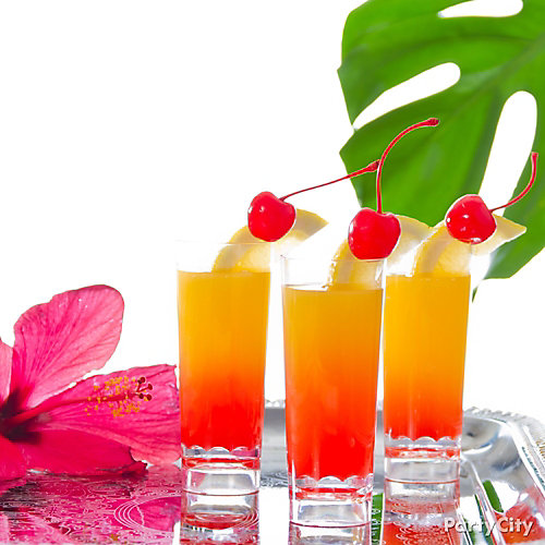 Tropical Island Sunrise Shooter Cocktail Recipe