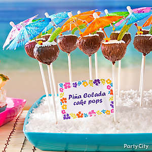 Tropical Pina Colada Cake Pops Idea