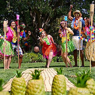 Luau Pineapple Bowling Idea