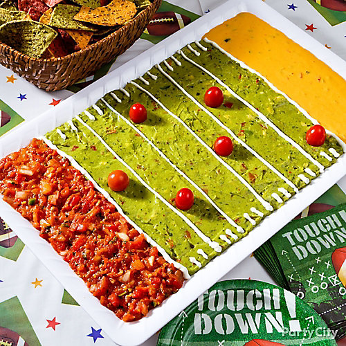 Football Field Dip Tray Idea