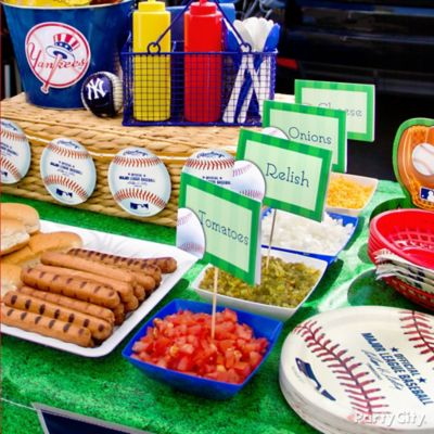 Baseball Custom Food Labels Idea