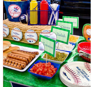 Baseball Custom Food Labels Idea
