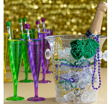 Beaded Champagne Bucket Idea