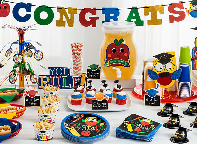 Kindergarten graduation party ideas party city - Kindergarten graduation decorations ...