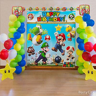 Super Mario Balloon Tower DIY