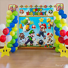 Super Mario Balloon Tower DIY