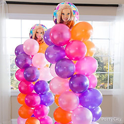 Barbie Balloon Tower DIY