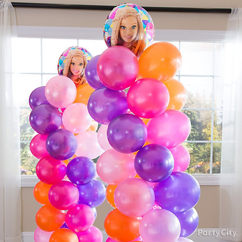 Barbie Balloon Tower DIY