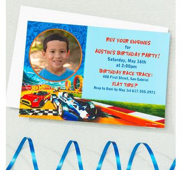 Hot Wheels Custom Invite & Thank You Idea