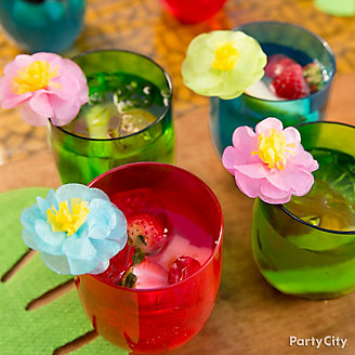 Luau Cocktail with Flower Pick Idea