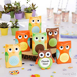 woodland baby shower decorations idea favor tree idea owl favor display idea