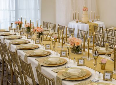 Gold Glam Wedding Reception